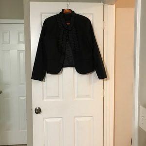 Ruffle black jacket